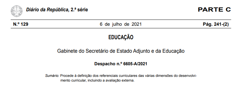 Despacho n.º 6605-A/2021 de 6 julho