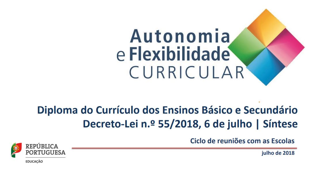 Diploma do Currículo dos Ensino Básico e Secundário, Dec. lei n.º 55/2018, 6 de julho