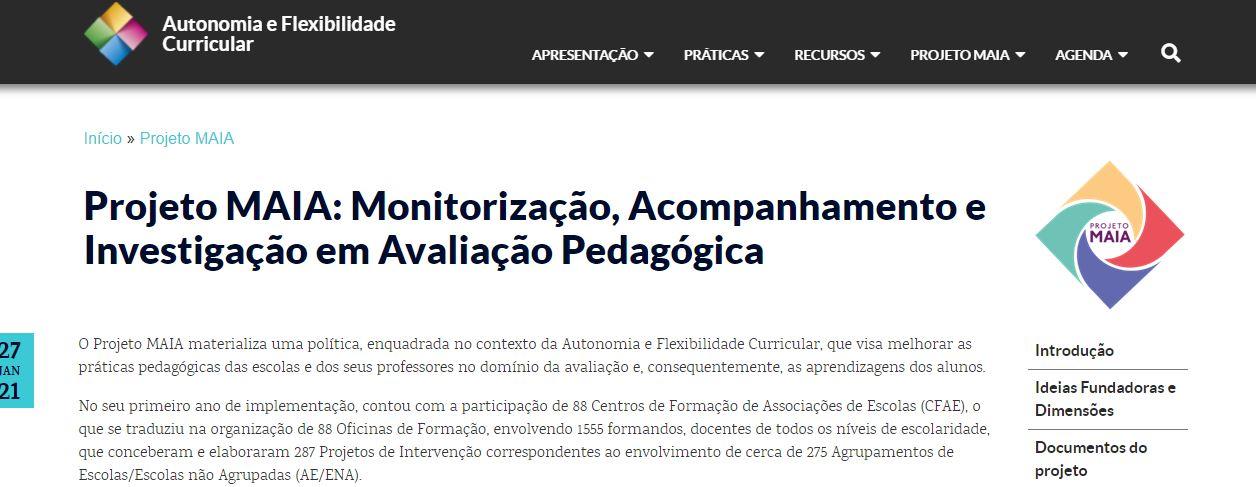 Projeto MAIA: Avaliação Pedagógica - DGE