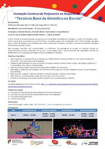 03NF2018 - Técnicas Base Da Ginástica Na Escola